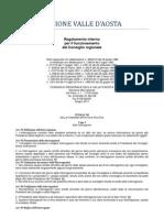 26. Regolamento Interno Consiglio Valle d'Aosta 2011- 7. Titolo - 1 Capo