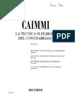 Caimmi+ +La+Tecnica+Superiore+Del+Contrabbasso 20+Studi+(Completo)