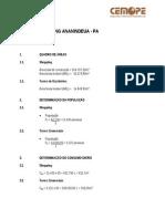 Informações de Consumo de água, esgoto e drenagem R-609-Rev 01