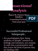 Report in Counseling Psychology. Transactional Analysis