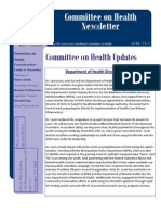Committee on Health Newsletter, June 2013