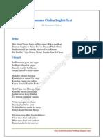 Hanuman Chalisa English Text