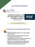 Kurikulum Dan Pedagogi Pendidikan Kesihatan - 2 2012