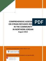 Uppcomprehensive Assessment Syrian Refugees 2012