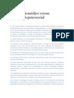Modelo Biomédico versus Modelo