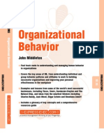Organizational Behavior - John Middleton