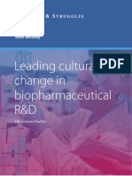Leading cultural change in biopharmaceutical R&D
