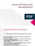 Sources of Finance for Development