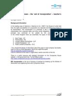 Incorporation -Teach File