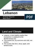 Lebanon Culturegram