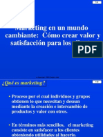 1) Marketing en Un Mundo Cambiante
