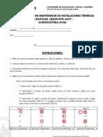 Examen 2008 y Plantilla de Respuestas - Instalaciones Termicas en Edificios (RITE-07)