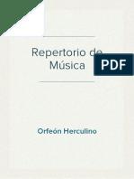 Repertorio de Música