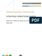 Strategic Directions for Energy White Paper March 2009