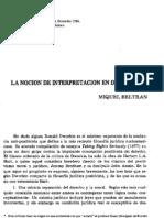 Argumentacion - La Nocion de Interpretacion en Dworkin