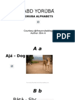 ABD YORÙBÁ - YORUBA ALPHABETS WITH PICTURES