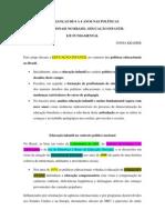 AS CRIANÇAS DE 0 A 6 ANOS NAS POLÍTICAS resumo