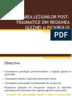 Glezna, Picior Posttraumatic