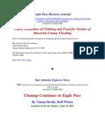 Severe Flooding in Eagle Pass Maverick County l SAEN EPBJ l 14-16 June 2013 l Articles