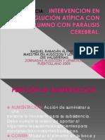 Intervención en la deglución atípica con un alumno con parálisis cerebral