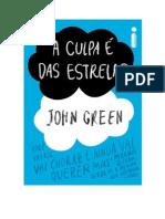 A Culpa E Das Estrelas John Green Pdf