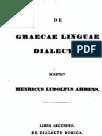 AHRENS, H.L (1843) de Dialecto Dorica