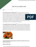 Cara Memasak Ayam Rica Rica