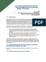Criterio de Calidad Para Materias Grasas Utilizadas Frecuentemente en La Nutricion Animal y de Peces