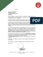 Carta El Inca