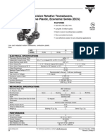 e Precision Rotative Transducers, Conductive Plastic, Economic Series (ECS)