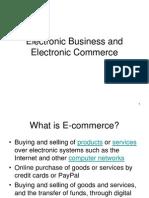E Business and E Commerce