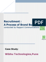 Recruitment - A Process of Brand Building - Case Study