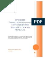 Informe de Presentación programa gestión Municipio Kukra Hill