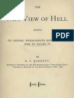 B F Barrett THE NEW VIEW OF HELL Philadelphia 1878
