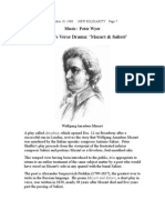 Pushkin's Verse Drama - Mozart & Salieri