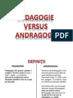 Pedagogie vs Andragogie