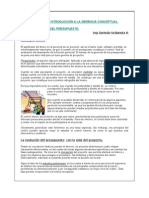 Gerencia Presupuestos (Construction Budgeting management)