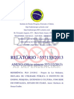 RELATÓRIO 557133.2013 ANEXO Ofício número 557132.2013