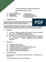 Plan de Trabajo de Las Elecciones Del Concejo Escolar 2013