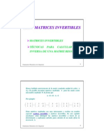 Matrices Regulares Invertibles