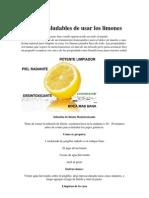5 Formas Saludables de Usar Los Limones