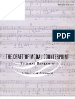 The Craft of Modal Counterpoint Thomas Benjamin