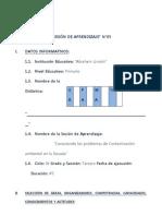 SESIÓN DE APRENDIZAJE Nº 05