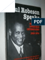 Paul Robeson Speaks Writings Speeches Interviews 1918 1974