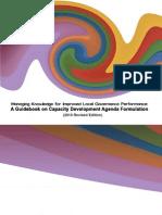 A Guidebook on Capacity Development Agenda Formulation