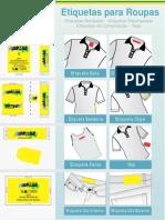 Instrução etiqueta de roupa