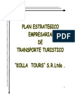 Plan Estrategico Empresarial de Transporte Turistico