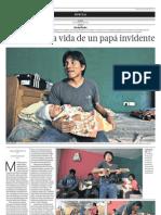 La sacrificada vida de un papá invidente - El Comercio Arequipa - (15-06-2013)
