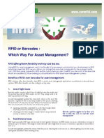 002 Barcodes vs RFID Fact Sheet by CoreRFID