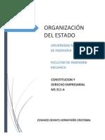 ORGANIZACIÓN DEL ESTADO
